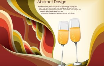 Abstract celebration template free vector - vector gratuit #169895