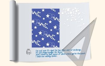 NixVex Star Pattern on Drawing Board Free Vector - vector #169955 gratis