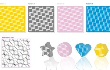 Kubick 3D Pattern - Free vector #169975