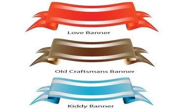 Theme Colored Banner Set - vector gratuit #170115