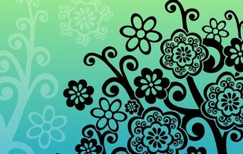 The Flower Tree - Free vector #170225