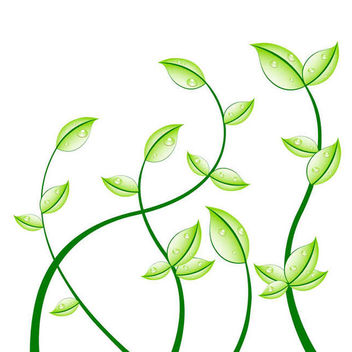 Fresh Floral Eco Plants - Free vector #170245