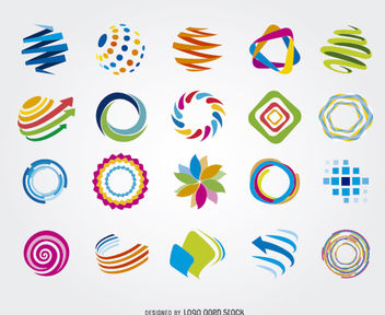 Creative Circle Globe Colorful Logos - Free vector #170255