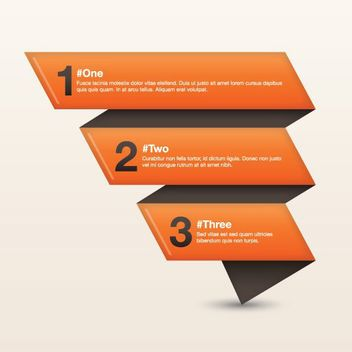 Three Folds Creative Origami Infographic - vector #170275 gratis