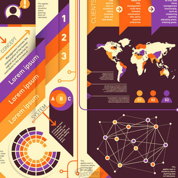 Abstract Colorful Modern Infographic Set - vector #170305 gratis