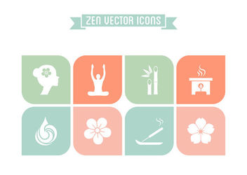Zen Concept Flat Icon Set - vector gratuit #170345