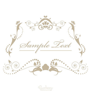 Decorative Vintage Ornamented Invitation - vector gratuit #170365