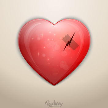Broken Heart Love Scratch Tape - vector gratuit #170375