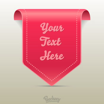 Hanging Pinkish Labeled Tag Template - Free vector #170425