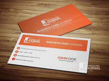 Minimal Style Corporate Business Card - vector gratuit #170445