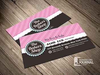 The Bakers Shop Business Card - Free vector #170475