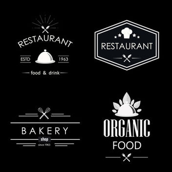 Vintage Restaurant Label Pack - vector gratuit #170515