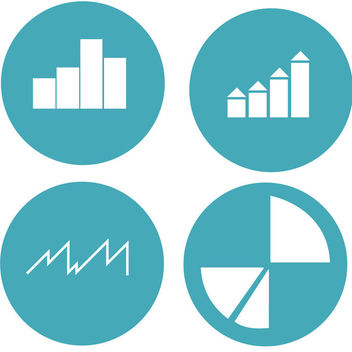 Graph & Chart Circles Icon Pack - vector #170565 gratis