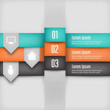 Creative Colorful 3D Layered Infographic - vector gratuit #170615