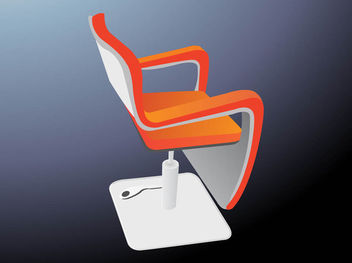 Abstract Modern Chair - Free vector #170645