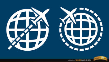 2 Travel around world symbols - vector gratuit #170725