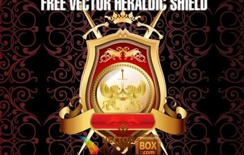 Great Free Vector Heraldic Shield - Kostenloses vector #170985