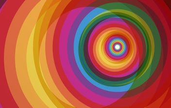 Spiral Rainbow Vector Background - Free vector #171105