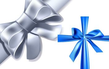 Blue and silver ribbon - vector gratuit #171235