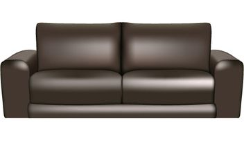 Brown Leather Sofa - vector gratuit #171275