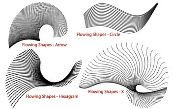 Flowing Shapes - Free vector #171345