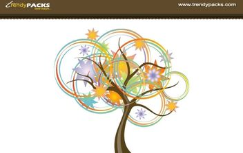 ABSTRACT TREE VECTOR - Free vector #171365