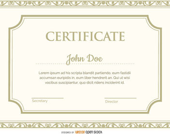 Certificate template - Free vector #171425