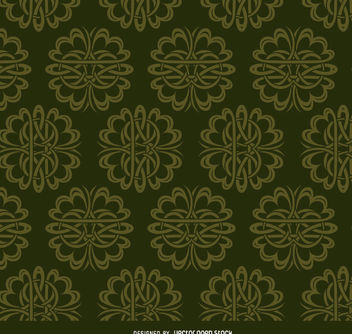Celtic ornaments green pattern - Free vector #171435
