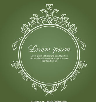 Circle ornament leaves green - Free vector #171465