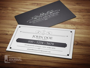 Vintage Classy Elegant Business Card - Free vector #171485