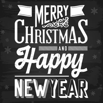 Decorative Vintage New Year & Xmas Typography - Free vector #171525