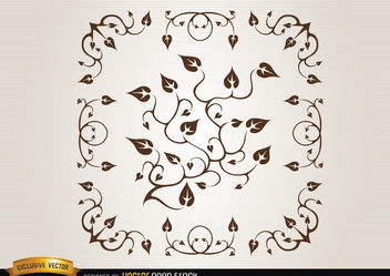 Branches and leaves decoration - vector #171675 gratis