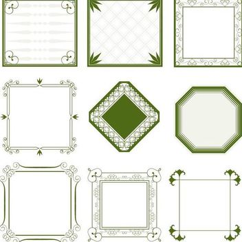 Vintage Minimalist Ornate Frame Collection - vector gratuit #171695