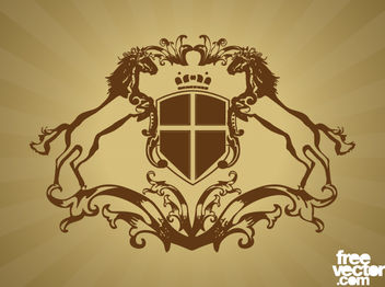 Heraldry Coat of Arms Shield - vector gratuit #171755
