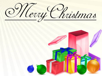 3D Detailed Christmas Present Pack - Free vector #171825