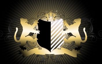 Creative Royal Heraldic Shield - vector #171935 gratis