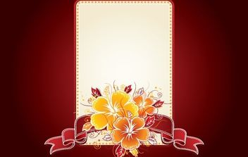 Invitation Card with Floral Badge - бесплатный vector #172045