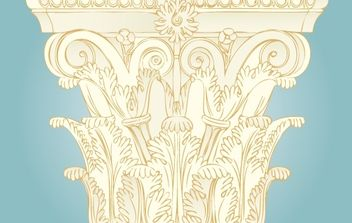 Vintage Ornament Pillar Decoration - vector gratuit #172075