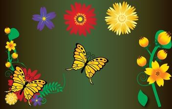 Flower Garden Element Vector - Free vector #172105