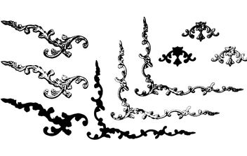 Black and White Ornamental Border - vector gratuit #172115