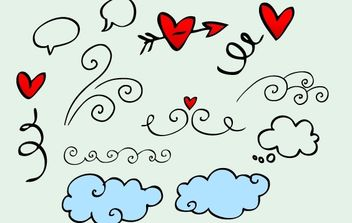 Vector Doodle Artwork - Free vector #172175