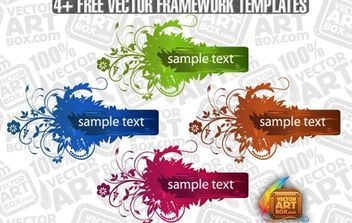 Useful Free Vector Flourish Framework Template - vector #172195 gratis