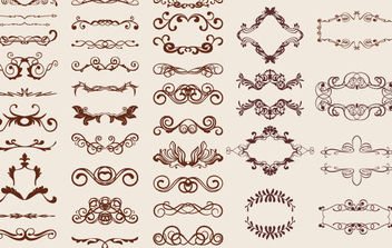 Retro Design Elements - Free vector #172305