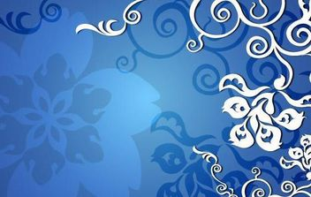 Blue Floral Vector - Free vector #172335