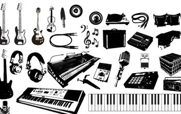 Music Instruments Vector Graphics - Kostenloses vector #172355