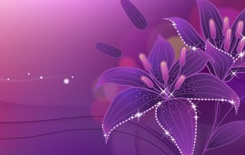 Dreams of the lily in full bloom - Free vector #172425