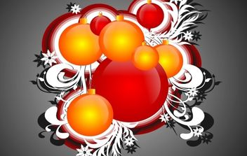 Cool Free Christmas Ornaments - бесплатный vector #172455