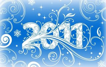 NEW YEAR BANNER 2011 VECTOR ADOBE ILLUSTRATOR CS4 AI DESIGN TUTORIAL - vector #172465 gratis