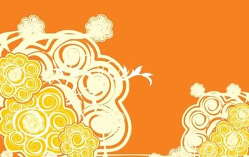 Orange Abstract Vector Design - vector gratuit #172615