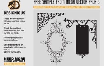 Flowers and wrought iron - vector gratuit #172655